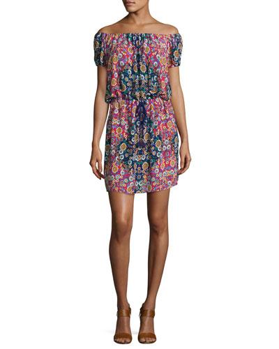Desert Diamond Off-the-Shoulder Dress, Multi