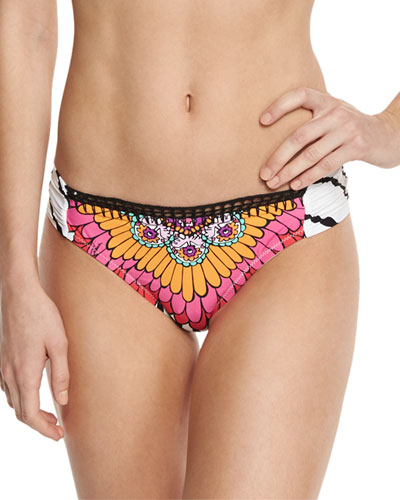 Ibiza Shirred-Side Hipster Swim Bottom