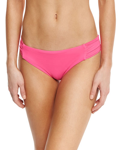Gypsy Shirred-Side Hipster Swim Bottom