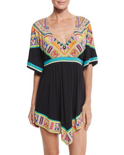 Nepal Printed Tunic Coverup
