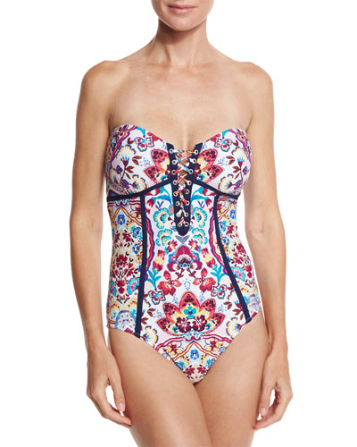 Festival Folkloric Seductress One-Piece Swimsuit