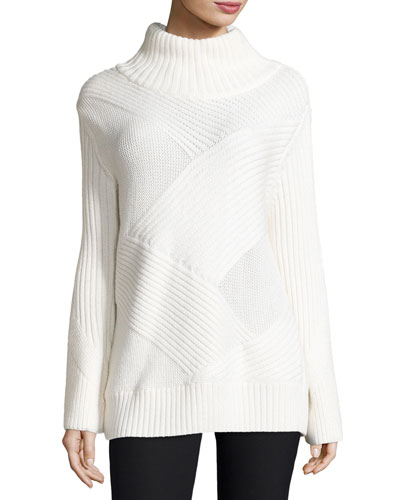 Bry Wool-Blend Pullover Sweater, Ivory