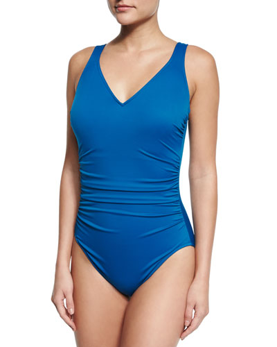Steffi Bar-Detail One-Piece Swimsuit