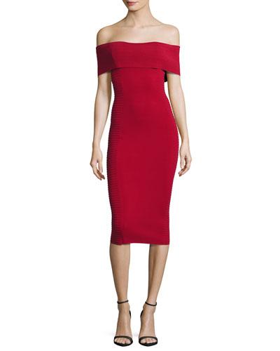 Milano Off-the-Shoulder Bandage Dress