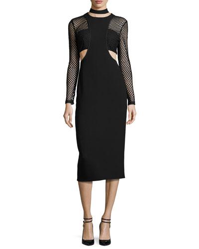 Mack Layered Midi Dress