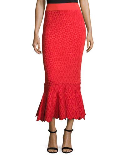 Diamond-Textured Mermaid Skirt