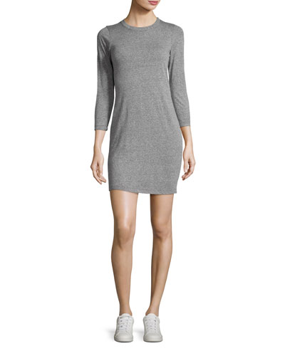 The 3/4-Sleeve Dress, Heather Gray