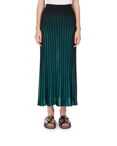Two-Tone Jersey Maxi Skirt, Midnight Blue