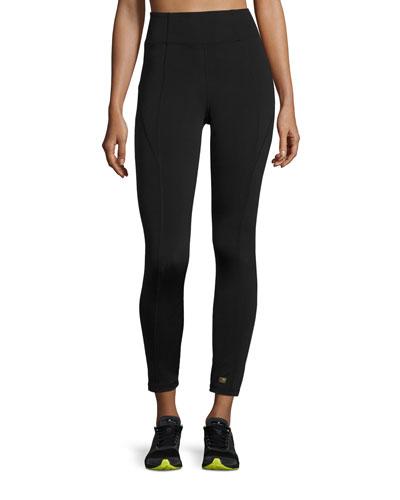 Paneled High-Rise Leggings, Black