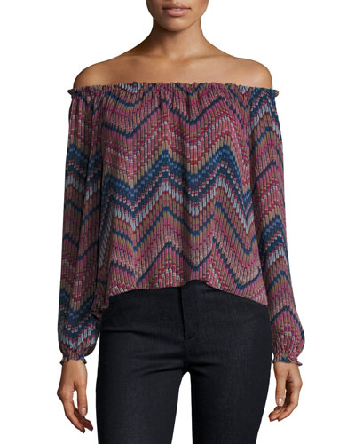 Francesca Printed Off-the-Shoulder Top
