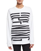 Cozy Stretch Logo Sweatshirt, White