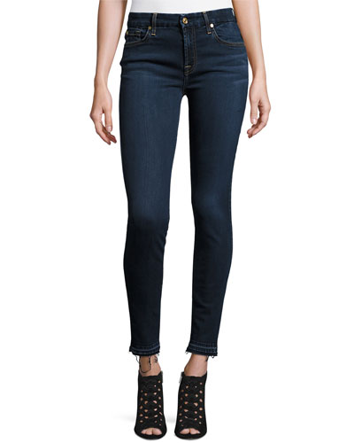 B(Air) Denim Ankle Skinny w/Released Hem, Tranquil Blue