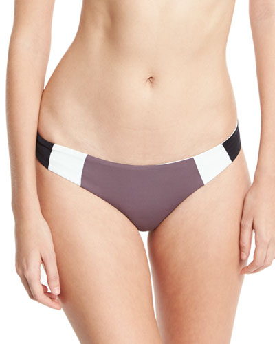 Mia Reversible Colorblock Swim Bottom, Pebble