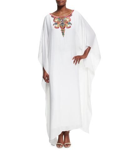 Embellished Caftan Maxi Dress, Ivory