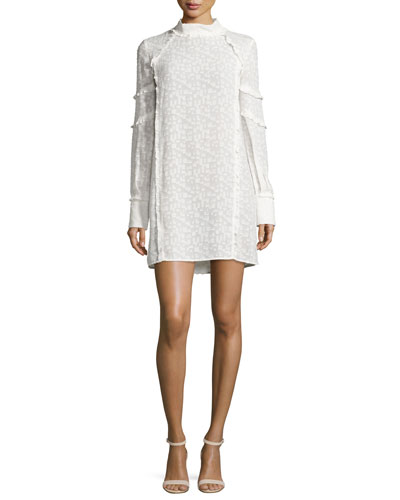 Mijo Textured Tunic Dress, White