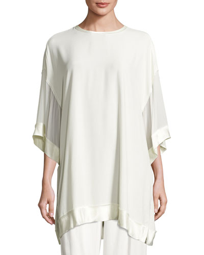 Oversized Jersey Tunic, Gesso