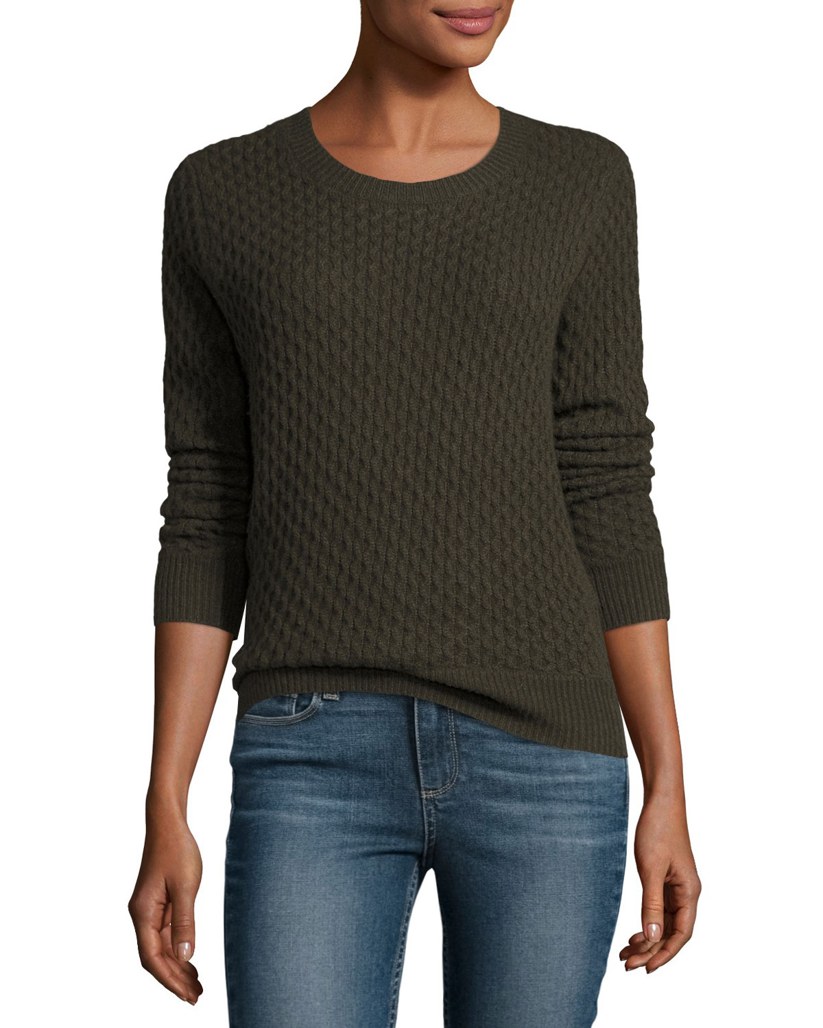 Estelle Cable-Knit Sweater, Army
