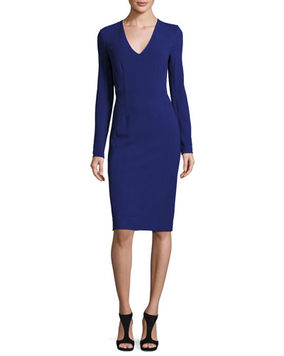 Milena Long-Sleeve Sheath Dress