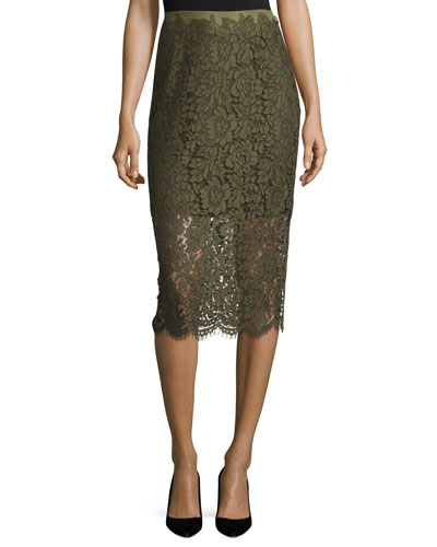 Glimmer Lace Pencil Skirt