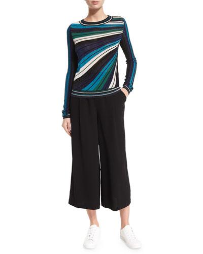 Joletta Metallic Striped Pullover