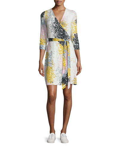 New Julian Two Printed Jersey Wrap Dress