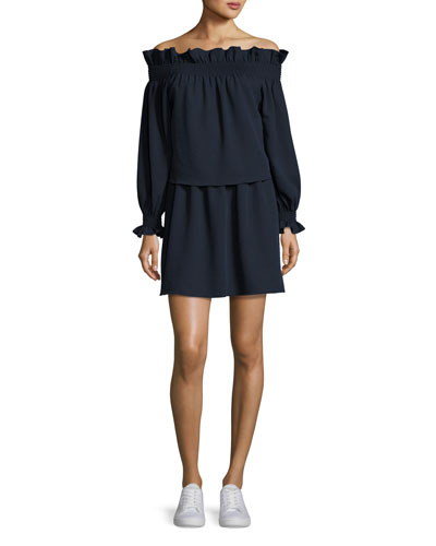 Georgie Off-the-Shoulder Popover Mini Dress