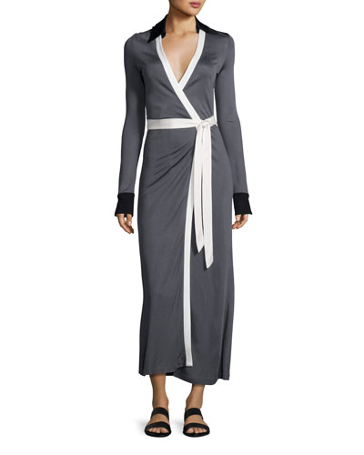 Cybil Two Monochromatic Jersey Wrap Dress