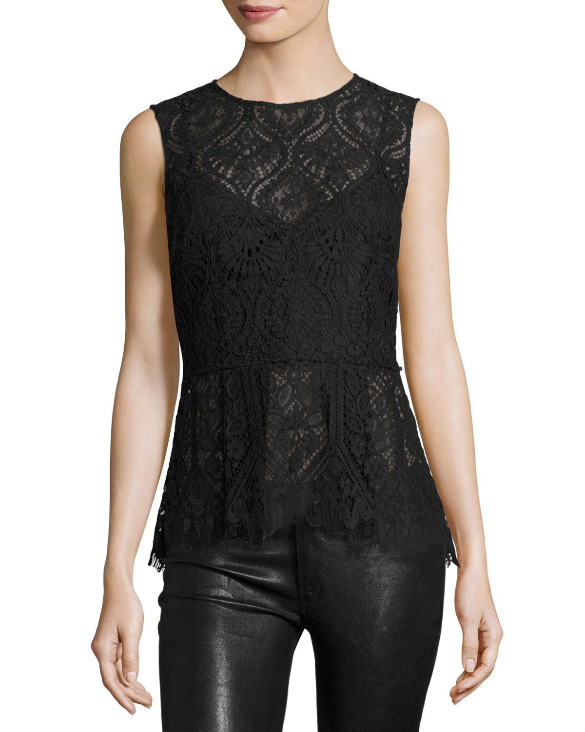 Lace Date Night Top, Black