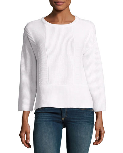 Dee Merino Knit Pullover, Ivory