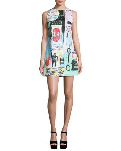 Clyde Graffiti-Print Shift Dress
