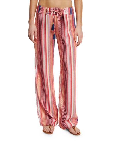 Angelica Striped Lounge Pants, Rose