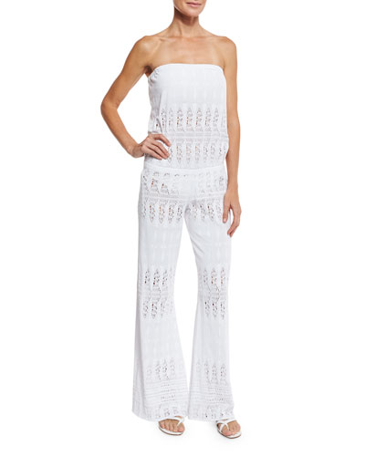 Veronica Lace Bandeau Coverup Jumpsuit
