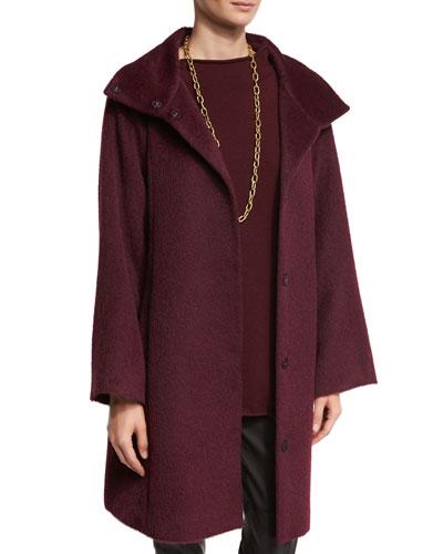Fisher Project Oversized Alpaca-Blend Coat, Raisonette