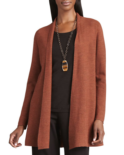 Knit Open Wool Cardigan | Neiman Marcus