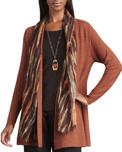 Blurred Silk-Wool Wrap