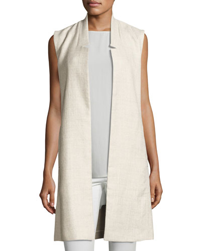 Fisher Project Alpaca Linen Long Vest