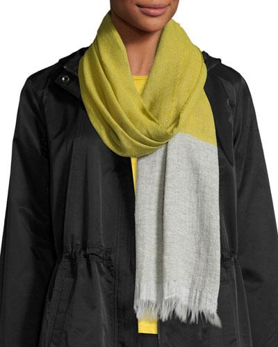 Cashmere & Linen Colorblock Scarf