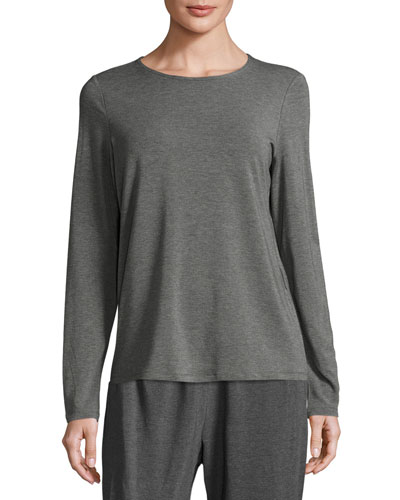 Long-Sleeve Long Jersey Top
