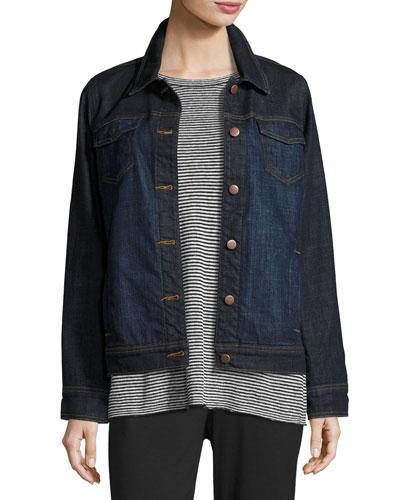 Stretch Denim Jacket   Neiman Marcus