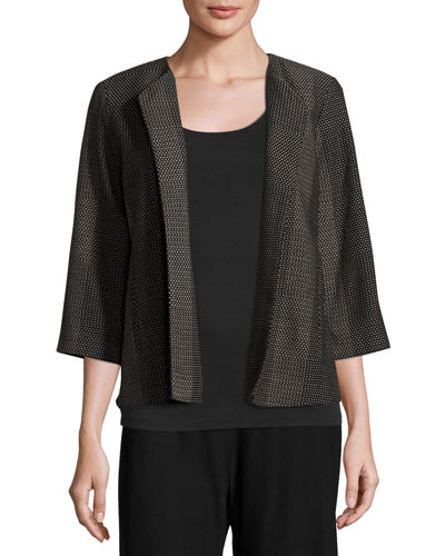 Kurume Dash Organic Cotton Jacket, Black, Petite