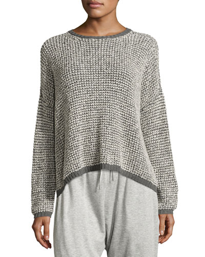 Boxy Boucle Pullover Sweater