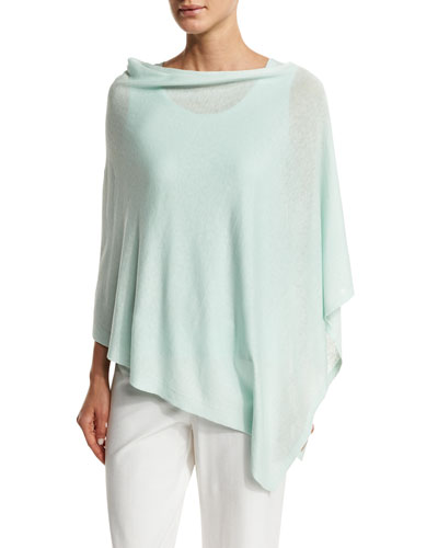 Fine Silk-Blend Poncho, Aurora, Plus Size