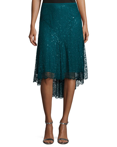 Chantilly Lace Asymmetric Skirt