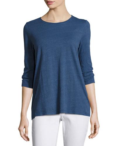 3/4-Sleeve Slubby Organic Jersey Top