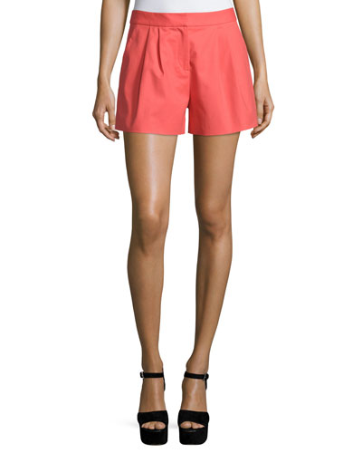 Pleated Trouser Shorts, Pink