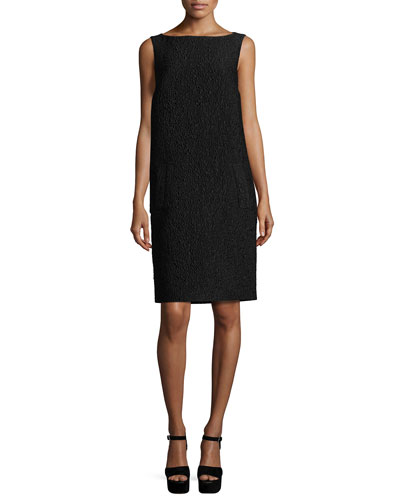 Jacquard Barrel-Back Shift Dress