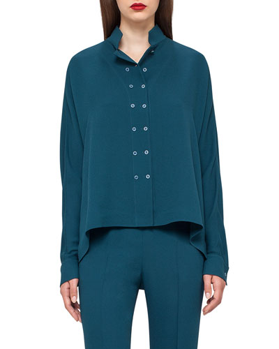 Double-Breasted Dolman Blouse, Seabiscuit