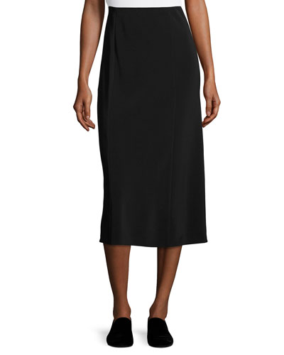 Yan Pencil Midi Skirt, Black