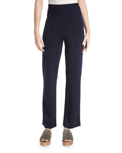 Destiny Straight-Leg Pants, Navy
