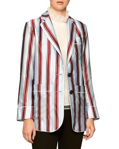 Panama Striped Pajama-Style Blazer